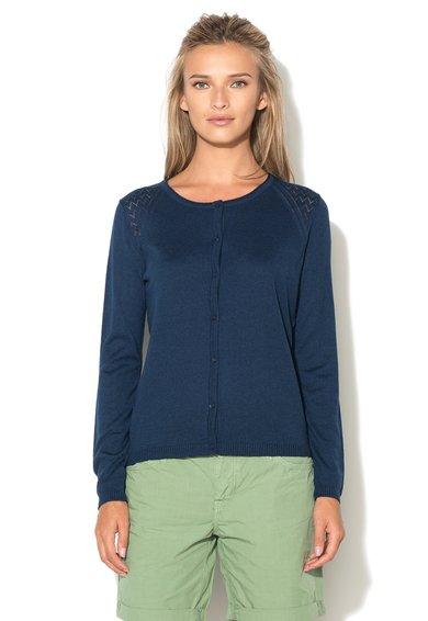 FashionDays.ro: Cardigan bleumarin cu model pointelle ESPRIT