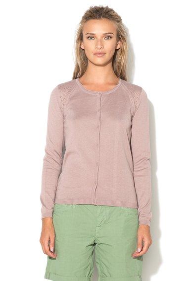 FashionDays.ro: Cardigan roz mineral cu model pointelle ESPRIT