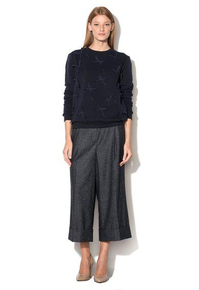 Fusta-pantalon gri inchis melange Duse