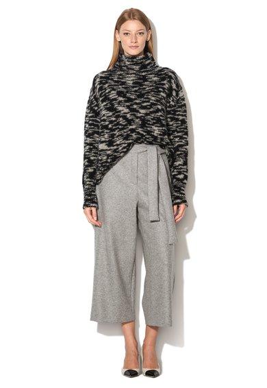 FashionDays.ro: Pulover negru cu gri din amestec cu lana alpaca Samanta Sportmax Code