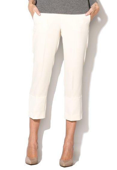 FashionDays.ro: Pantaloni alb unt Pera Marella ART 365
