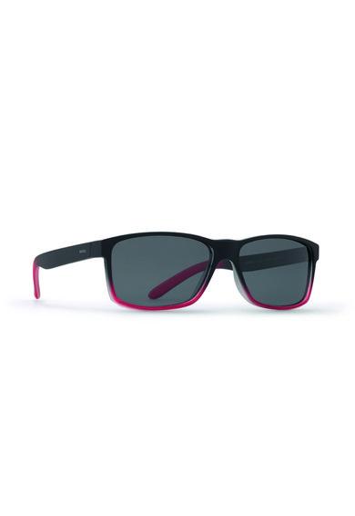 Ochelari de soare in degrade mat negru cu rosu de la INVU