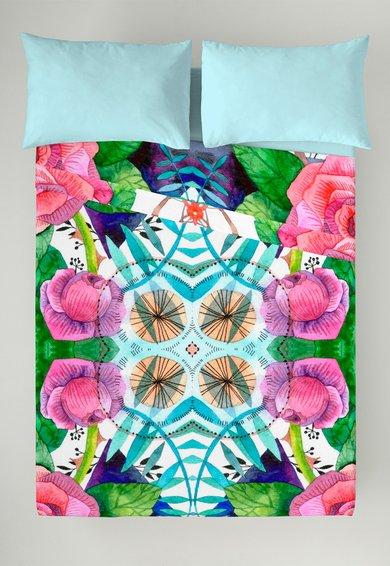 FashionDays.ro: Set multicolor de cearsaf si fata de perna Eleonor Naturals