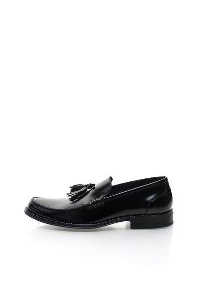 Pantofi loafer negri de piele cu canafi Berard de la Versace 19.69 Abbigliamento Sportivo