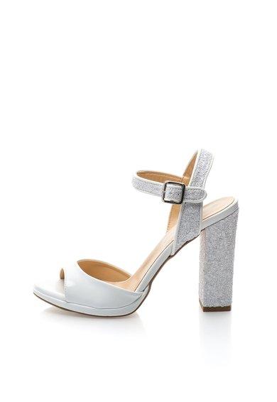 Sandale albe texturate Daniellee de la Versace 19.69 Abbigliamento Sportivo