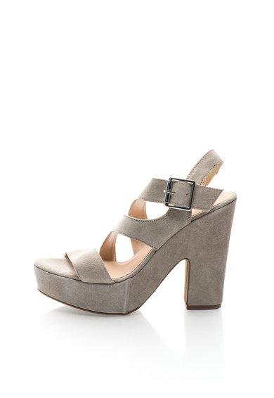 Sandale gri de piele intoarsa cu platforma Olivia de la Versace 1969 Abbigliamento Sportivo