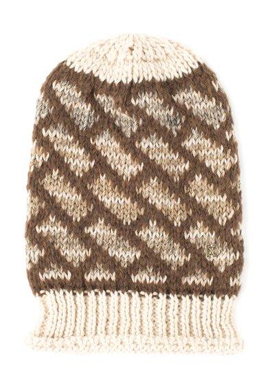 Caciula maro cu bej tricotata de la COCCINELLE