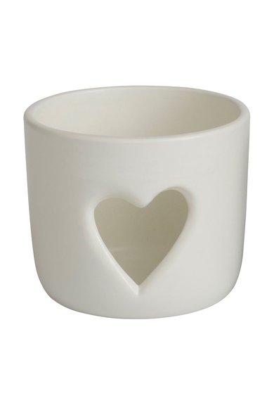 Yankee Candle Suport alb pentru lumanare Stonehege Heart