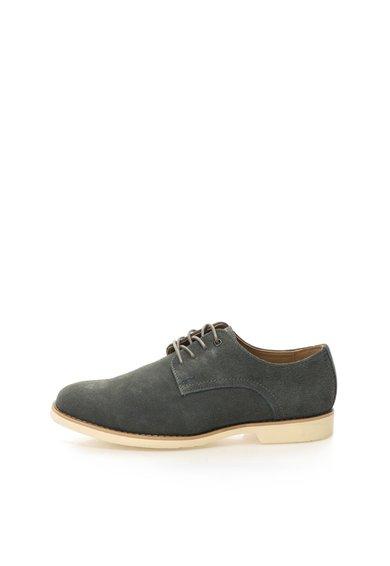 Pantofi gri inchis de piele intoarsa Cordes Hush Puppies