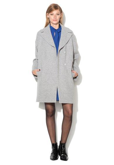 FashionDays.ro: Haina gri melange din amestec cu lana Asia Sportmax Code