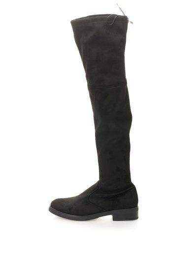 Cizme negre deasupra genunchiului de piele intoarsa sintetica de la Buffalo