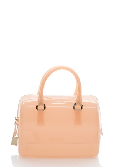 Furla Geanta bowler mini roz pastel Candy