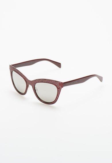Ochelari de soare rosu Bordeaux cu model perforat de la Marc by Marc Jacobs
