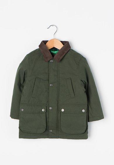 Jacheta verde camuflaj cu vatelina