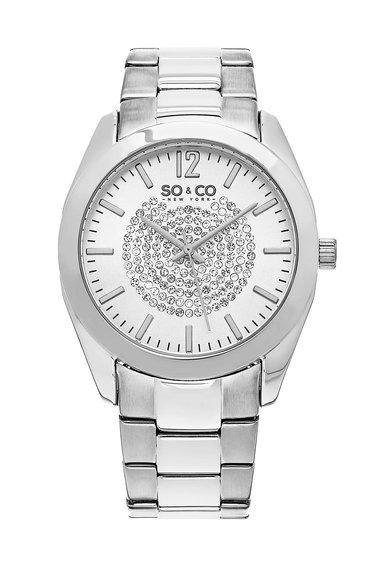 SOCO New York Ceas argintiu cu cristale Madison