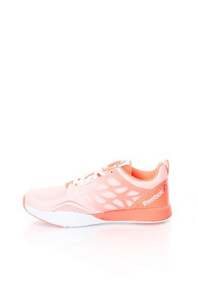Pantofi sport roz neon cu alb pentru activitati sportive Cardio de la Reebok
