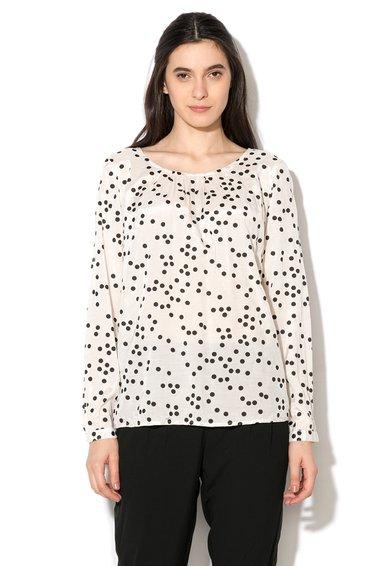 FashionDays.ro: Bluza alb prafuit cu negru si buline kaffe