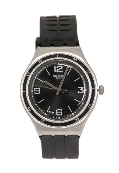 FashionDays.ro: Ceas negru cu argintiu Irony Swatch