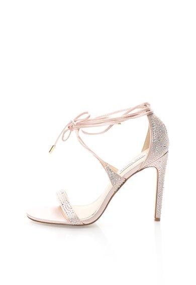 Sandale roz pal cu design infasurabil si strasuri President de la Steve Madden