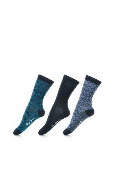 Set de sosete in nuante de albastru cu lurex Vera – 3 perechi de la Pepe Jeans London