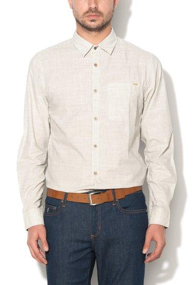 Camasa slim fit alb prafuit cu gri inchis in dungi Harrison de la JackJones