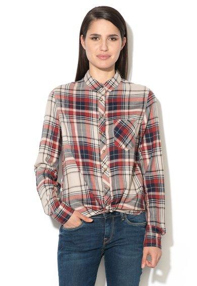 Camasa multicolora cu model tartan Ines de la Pepe Jeans London