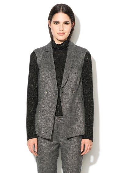 Liu Jo Vesta gri melange din amestec cu lana