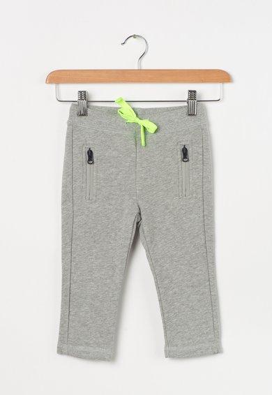Pantaloni sport gri melange cu buzunare cu fermoar de la United Colors Of Benetton