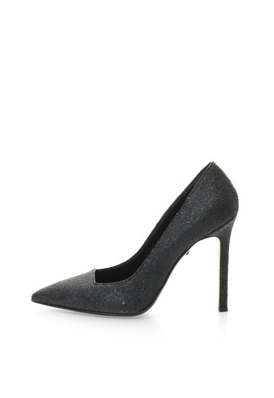 FashionDays.ro: Pantofi negri cu toc stiletto si particule stralucitoare Just Cavalli