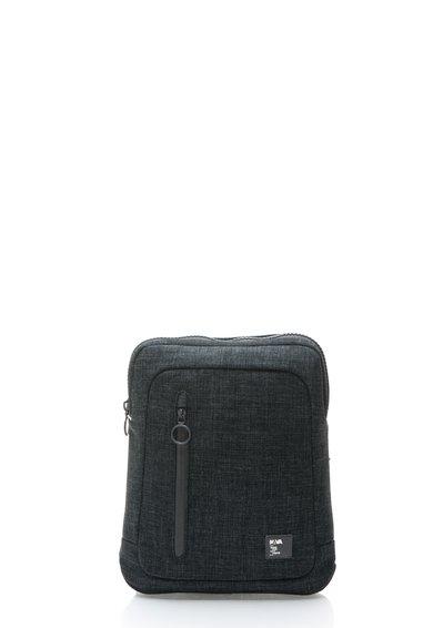Geanta crossbody gri inchis melange pentru iPad de la Nava