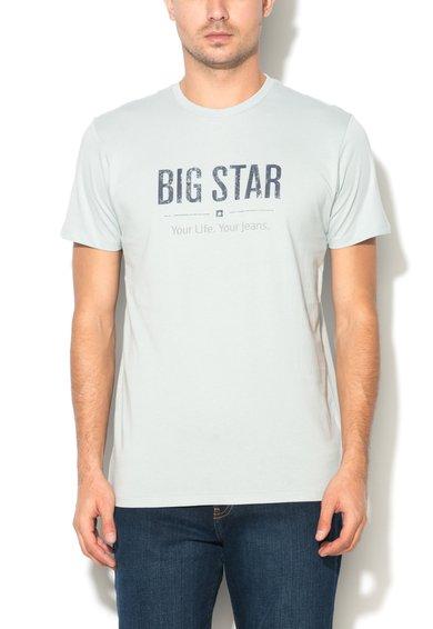Big Star Tricou albastru Cambridge cu imprimeu text Bruno