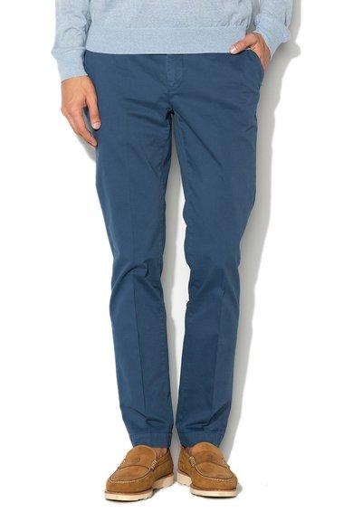 Pantaloni chino slim fit albastru prafuit de la Hackett London