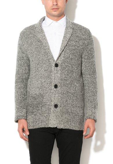 Sacou gri tricotat din amestec de lana Milano de la Selected
