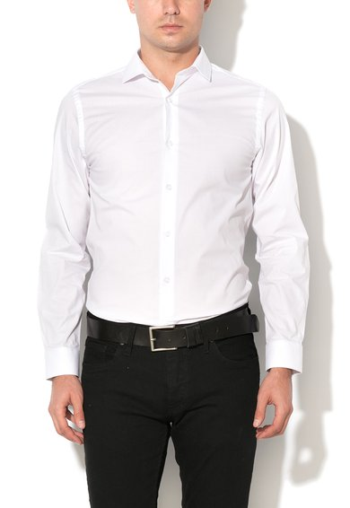 FashionDays.ro: Camasa slim fit alba Pisa Selected Homme