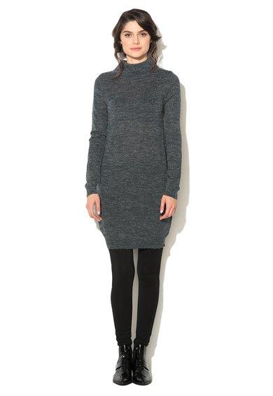 Rochie tip pulover bleumarin melange Marat de la ICHI
