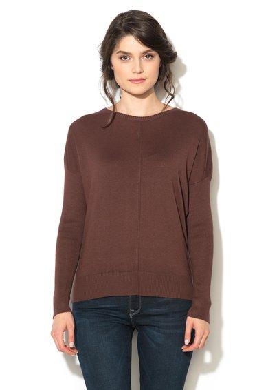 Bluza maro tricotata fin Pimba de la b.young