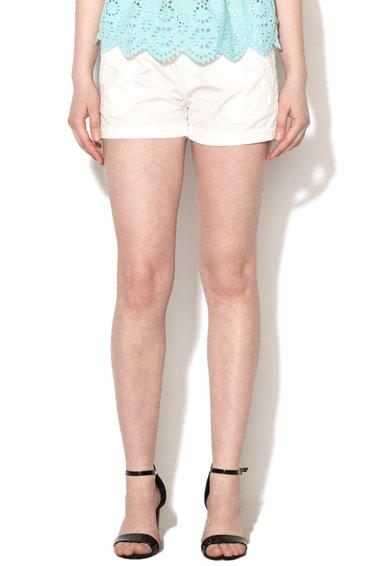 FashionDays.ro: Pantaloni scurti albi din denim Balboa Pepe Jeans London