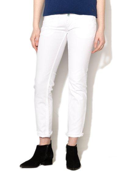 Jeansi drepti albi Venus de la Pepe Jeans London
