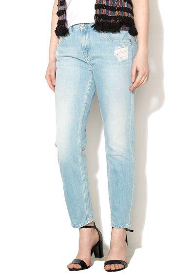 Pepe Jeans London Jeansi bleu conici cu aspect deteriorat Vagabond