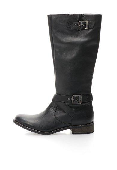 Cizme negre de piele cu barete cu catarame decorative de la Pepe Jeans London