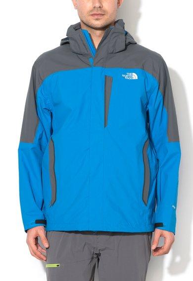 Jacheta albastru cu gri inchis si gluga detasabila Cirrus de la The North Face