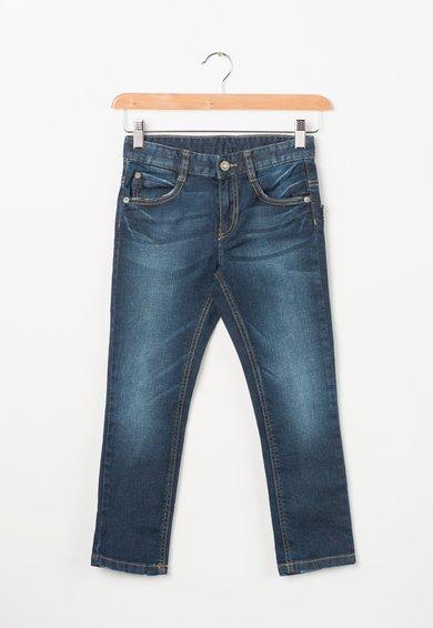Jeansi albastri elastici cu talie ajustabila de la United Colors Of Benetton