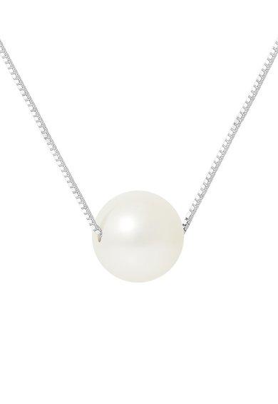 Perles Addict Colier argintiu cu perla alb fildes