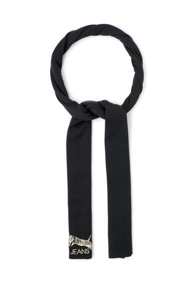 VERSACE JEANS Fular negru tricotat fin