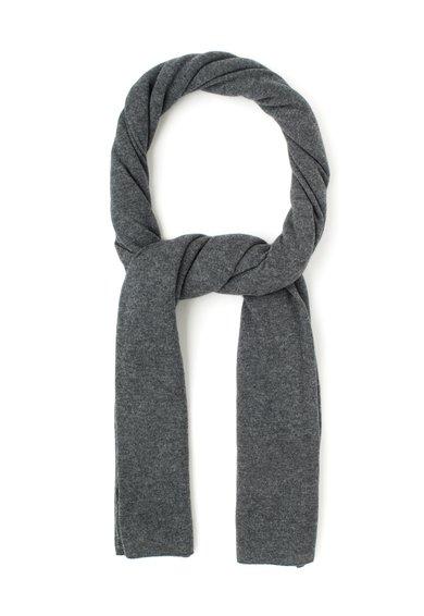 Fular gri inchis melange de lana si casmir