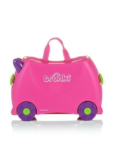 FashionDays.ro: Geanta de voiaj ride-on roz cu violet Trixie Trunki