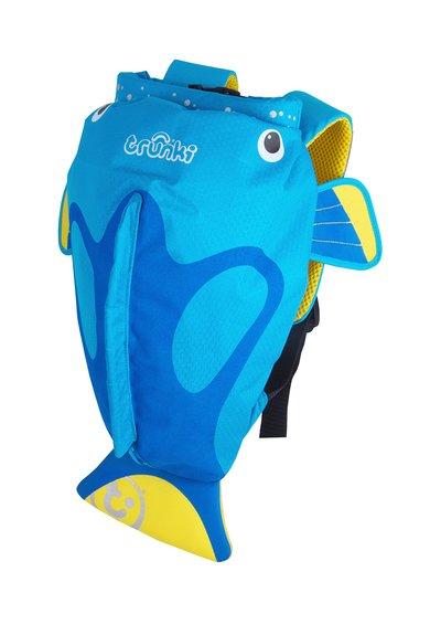 Rucsac albastru cu design peste tropical de la Trunki