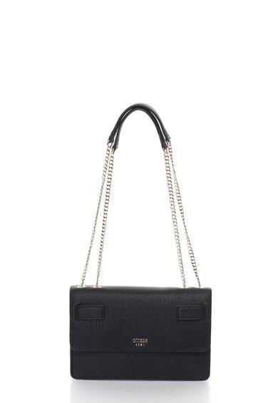 FashionDays.ro: Geanta neagra cu bareta convertibia Cate GUESS