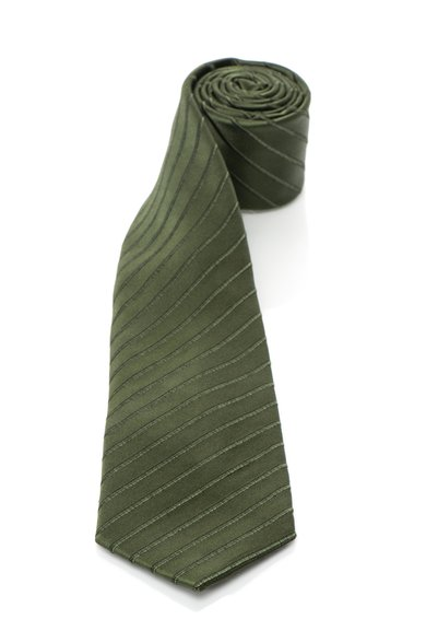 FashionDays.ro: Cravata verde inchis de matase in dungi Vincenzo Boretti
