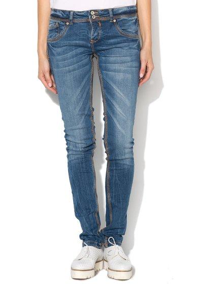 Alcott Jeansi super skinny albastri cu aspect deteriorat